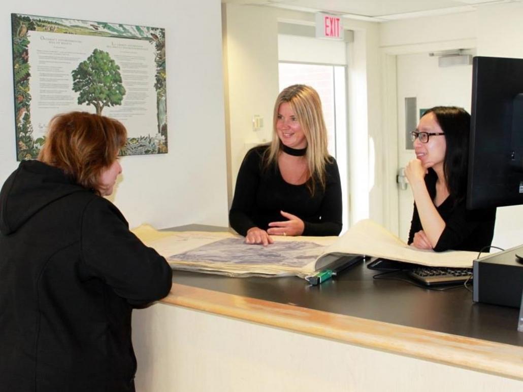 CVC staff greeting a planning applicant