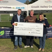 UPS presenting the CVC Foundation with a cheque